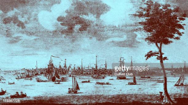View of Boston Massachusetts US c 1720