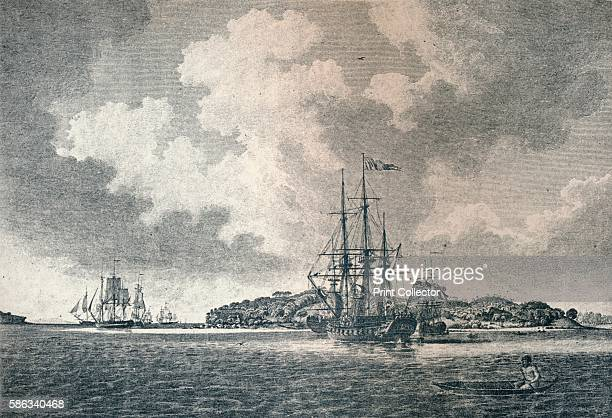 'A View of Botany Bay' 1789 The 'Supply' and 'Sirius' bringing in the first convict transports into Botany Bay New South Wales in 1787 From...