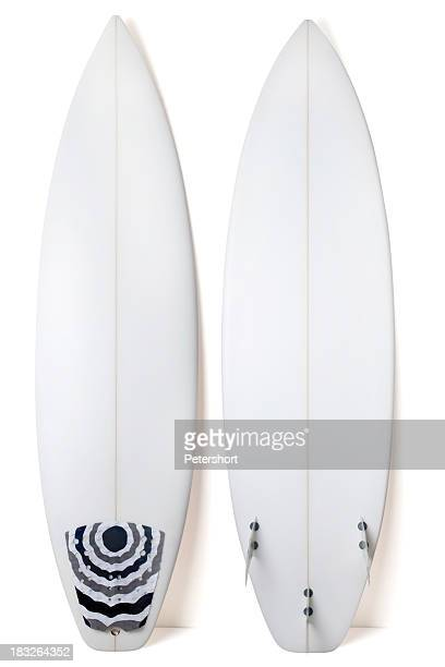 a view of both sides of a white surfboard - surfboard stock pictures, royalty-free photos & images