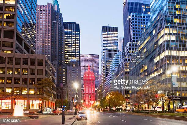 view of boulevard park avenue, manhattan, new york city, new york state, usa - パークアベニュー ストックフォトと画像
