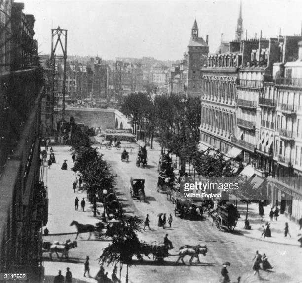 A view of Boulevard Sebastopol Paris