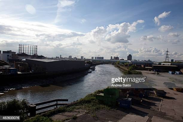 A view of Bow Creek from Canning Town East London