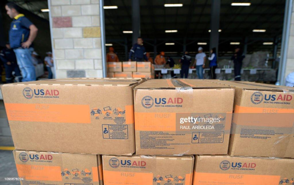 COLOMBIA-VENEZUELA-US-CRISIS-AID : Fotografía de noticias