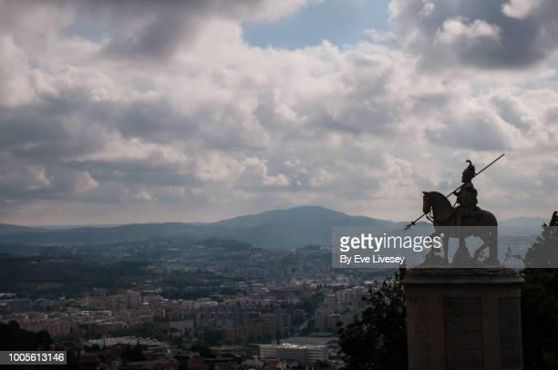 View of Braga City and the Statue of Saint Longinus, Braga, Portugal
