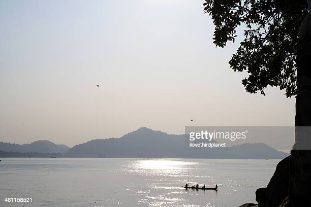 """a view of """"brahmputra"""" river, at guwahati - guwahati stock pictures, royalty-free photos & images"""
