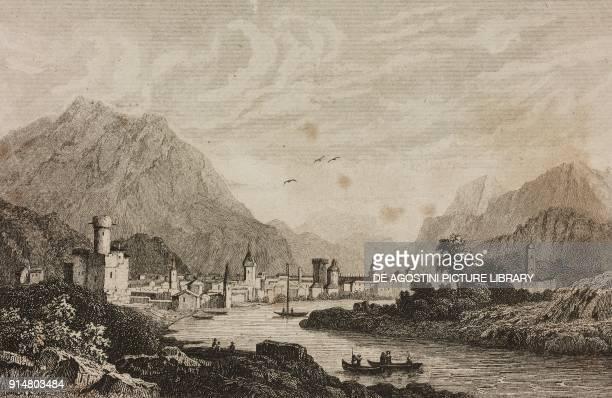 View of Brandis TrentinoAlto Adige Italy engraving by Lemaitre and Lejeune from Histoire et description de la Suisse et du Tyrol by Marie Philippe...