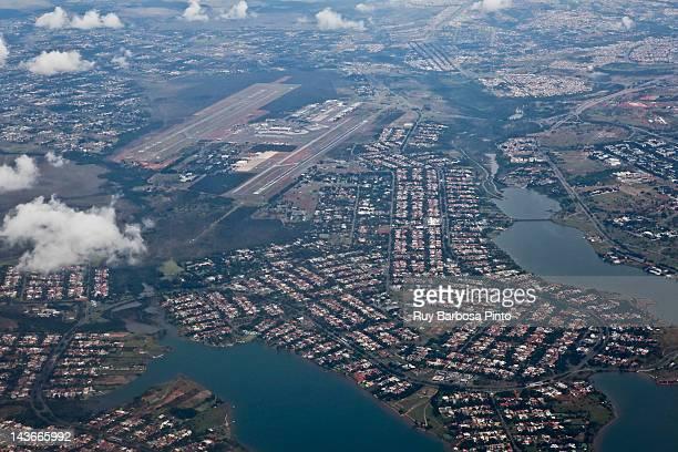 view of brasilia international airport - brasilia stock pictures, royalty-free photos & images