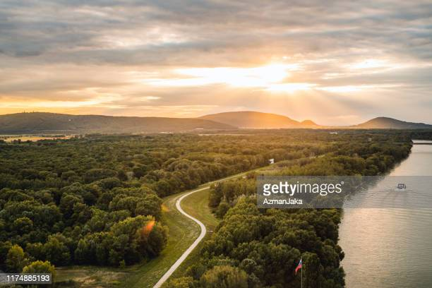view of bratislava and it's forest - bratislava stock pictures, royalty-free photos & images