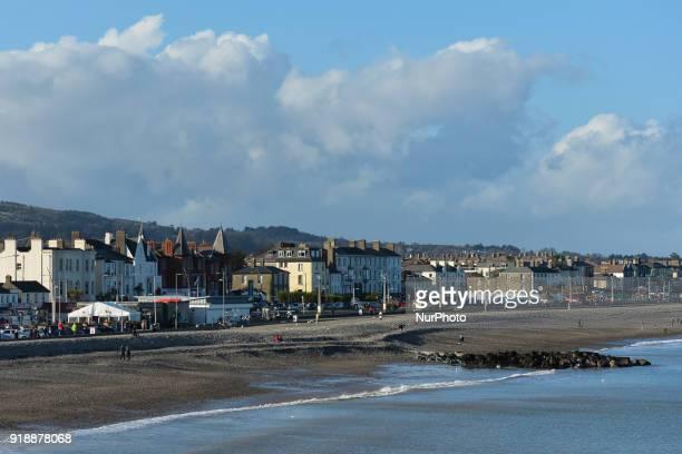 A view of Bray sea front promenade On Thursday February 15 Dublin Ireland
