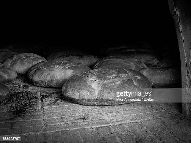 View Of Bread In Oven