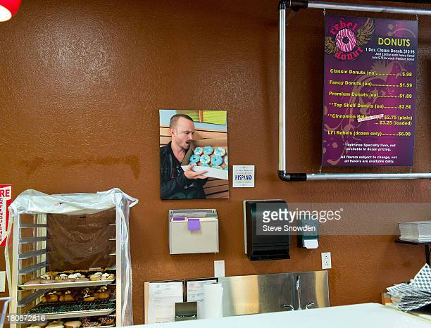 A view of 'Breaking Bad' inspired Blue Sky donuts in Rebel Donuts on August 31 2013 in Albuquerque New Mexico Several years ago a production...