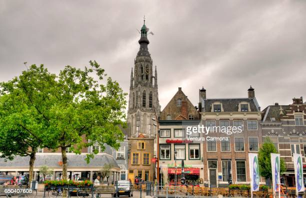 View of Breda and the Church of Our Lady  - The Netherlands