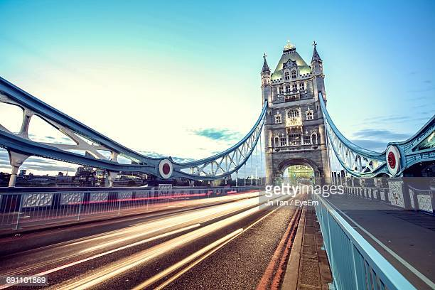 view of bridge against clear sky - international landmark stock pictures, royalty-free photos & images
