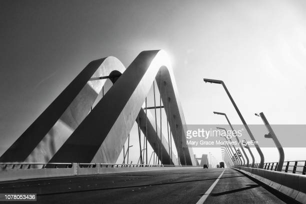 view of bridge against sky - abu dhabi stock pictures, royalty-free photos & images