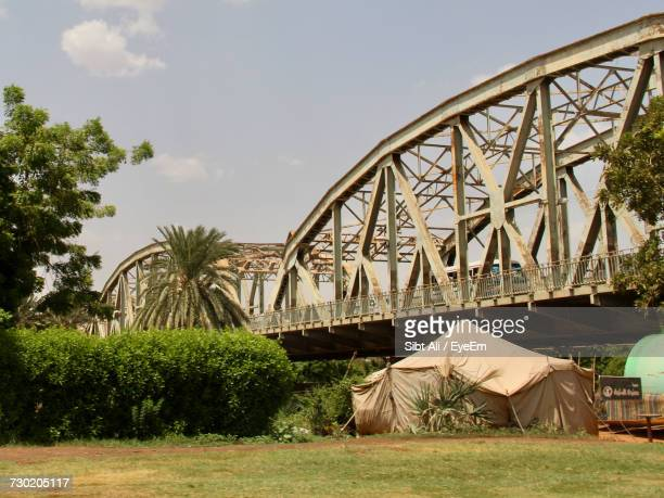view of bridge against sky - khartoum stock photos and pictures