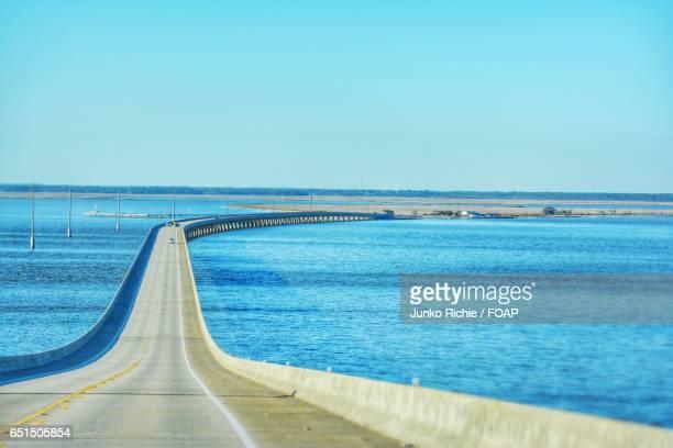 View of bridge and ocean