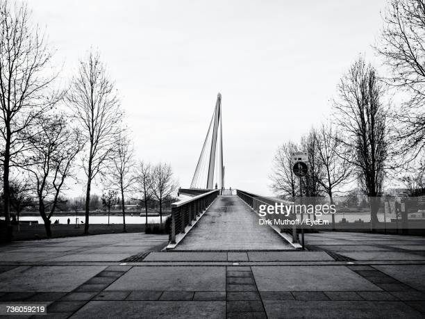 View Of Bridge In City Against Clear Sky