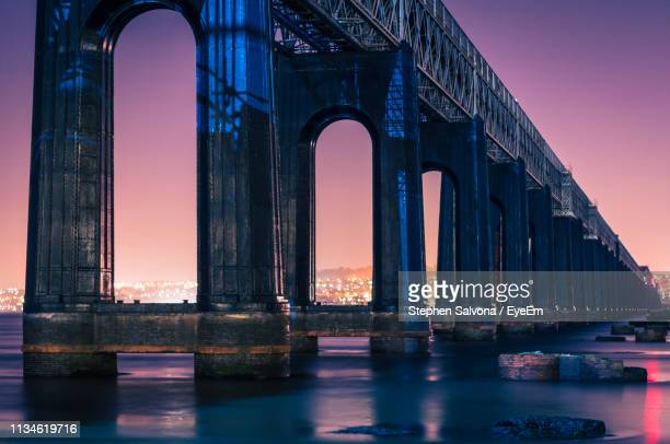 view of bridge over river against sky - dundee scotland stock pictures, royalty-free photos & images