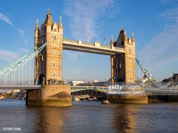view of bridge over river - marek stefunko stock pictures, royalty-free photos & images