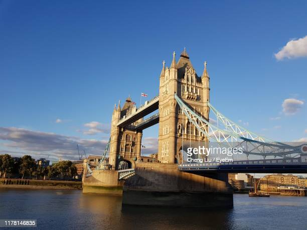 view of bridge over river - liu he stock pictures, royalty-free photos & images