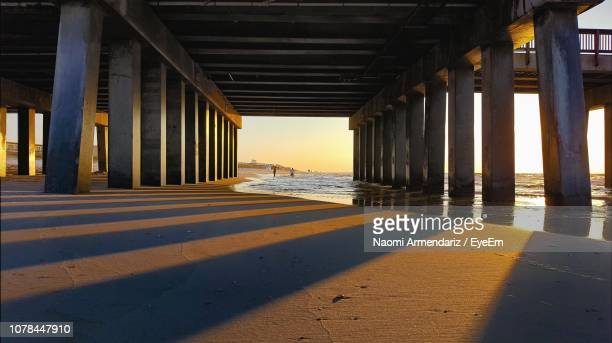 view of bridge over sea - gulf shores alabama stock pictures, royalty-free photos & images