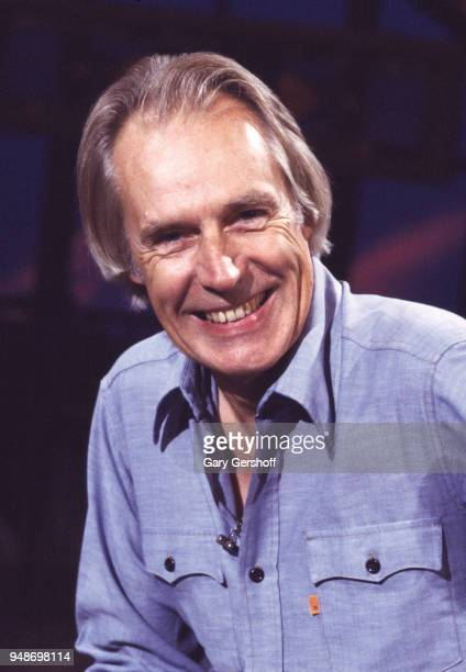 View of British record producer and composer George Martin at MTV Studios New York New York October 3 1983 He was there to promote his book 'Making...