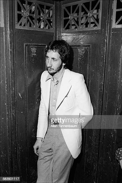 View of British Rock musician Pete Townshend of the group the Who in an elevator as he attends an afterconcert party New York New York June 6 1974