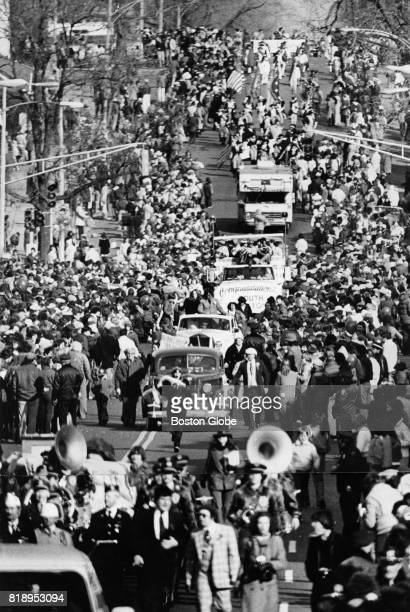A view of Broadway during the St Patrick's Day Parade in South Boston March 19 1979