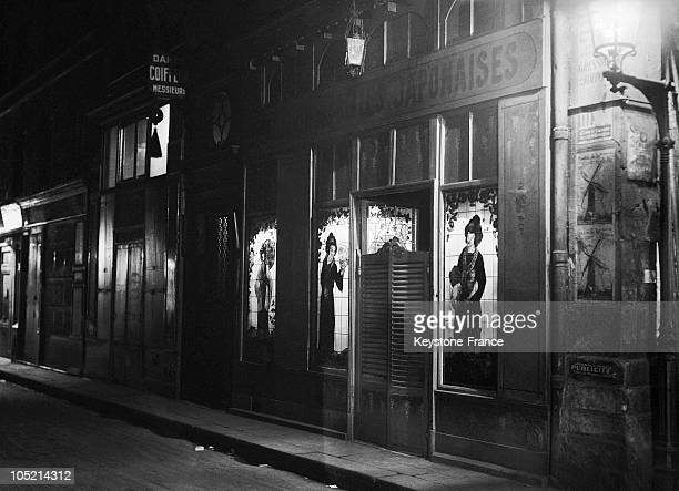 View Of Brothel Les Belles Japonaises At The 6Th In Tracy Street In Paris, In 1930'S. It Is Directed By Maurice From Belles Japonnaises, A Former...