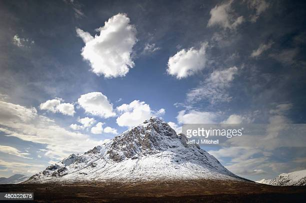 View of Buachaille Etive Mor in Glen Coe on March 24, 2014 in Glen Coe, Scotland. A referendum on whether Scotland should be an independent country...