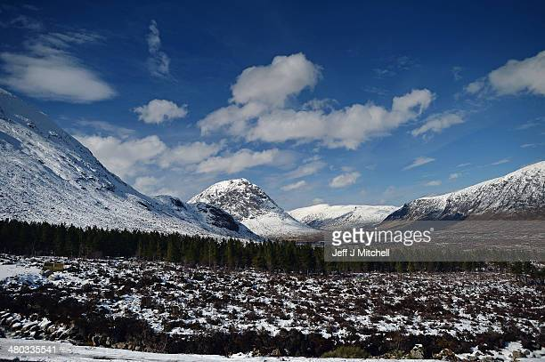 View of Buachaille Etive Mor in Glen Coe on March 24, 2014 in Glen Coe, Scotland.A referendum on whether Scotland should be an independent country...