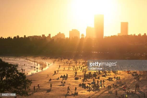 View of Buceo beach at sunset, Montevideo, Uruguay