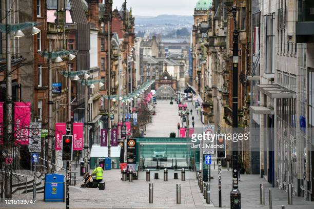 A view of Buchanan Street on March 27 2020 in Glasgow ScotlandScotland First Minister of Scotland Nicola Sturgeon along with British Prime Minister...