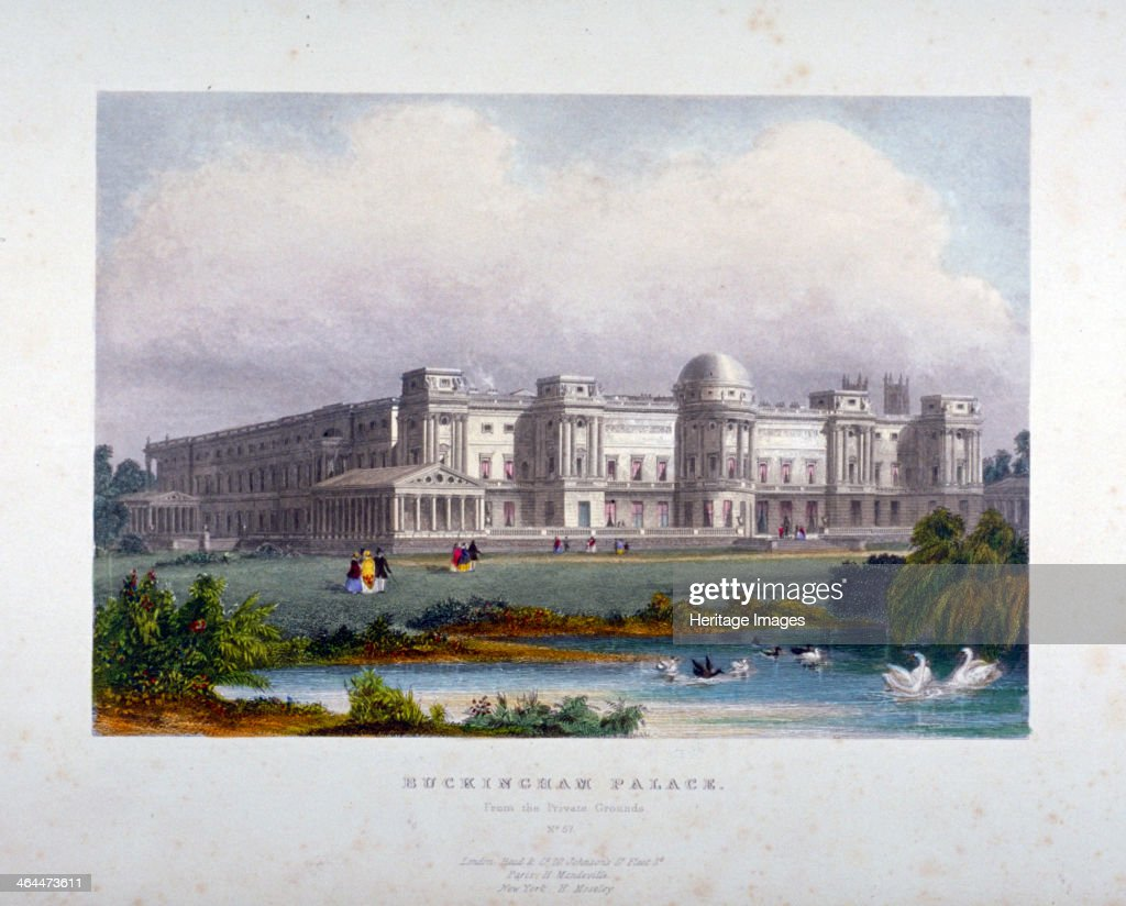 View of Buckingham Palace, Westminster, London, c1830.