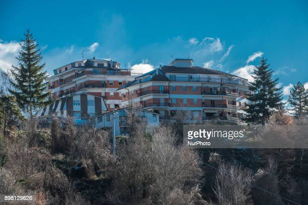 View of building which collapsed with the powerful earthquake in the municipality of Amatrice, Italy, on 24 December 2017. The region has been hit by...