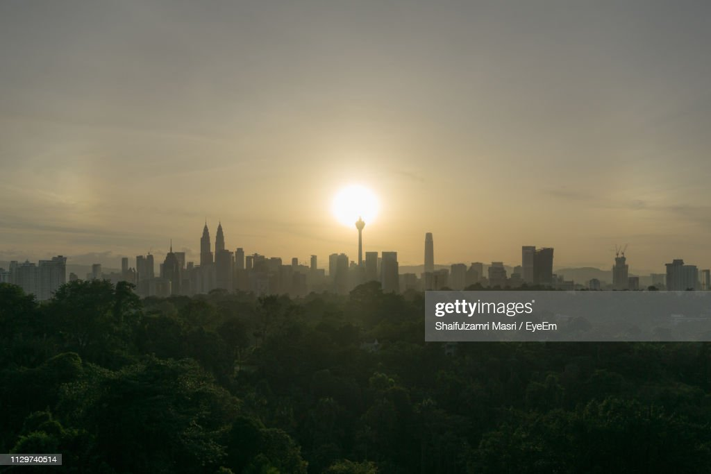 View Of Buildings Against Sky During Sunset : Stock Photo