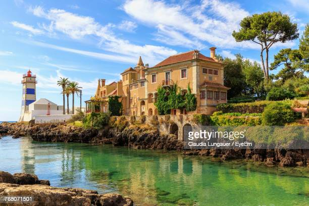 view of buildings against sky - cascais stock photos and pictures