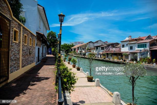 view of buildings against sky - melaka state stock pictures, royalty-free photos & images