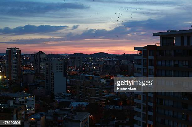 View of buildings at downtown in Concepcion host city of 2015 Copa America Chileon June 29 2015 in Concepcion Chile
