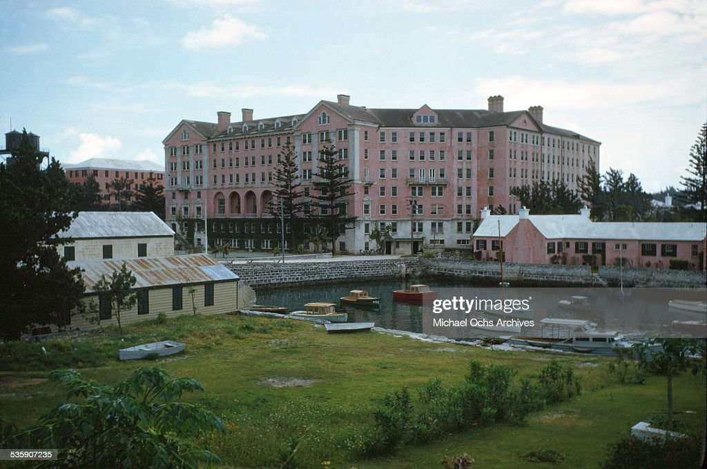 A view of buildings in Bermuda.