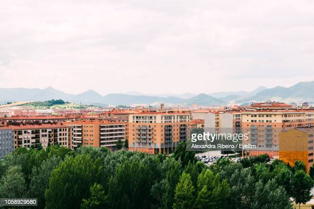 view of buildings in city against sky - pamplona stock pictures, royalty-free photos & images