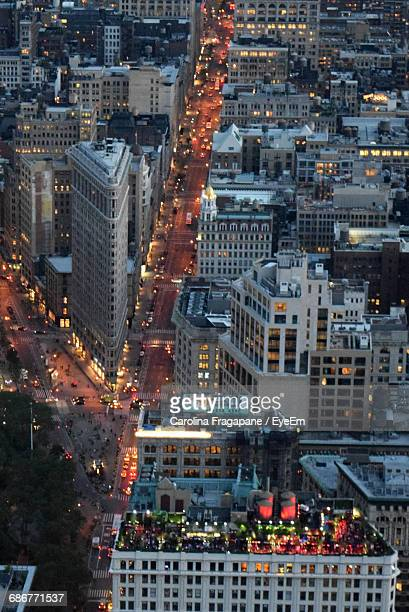 view of buildings in city at dusk - carolina fragapane stock pictures, royalty-free photos & images