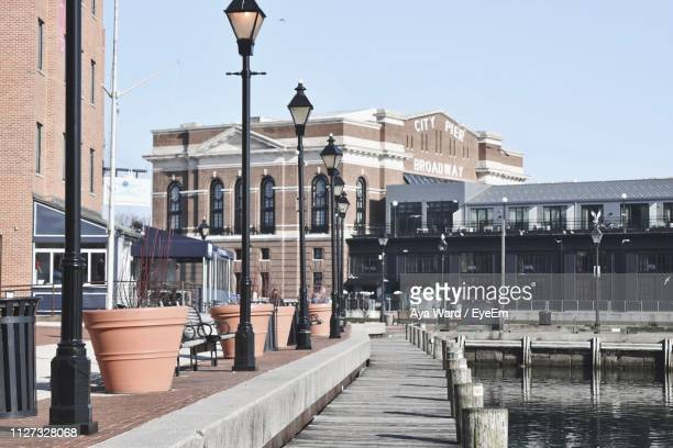 view of buildings in city - baltimore maryland stock pictures, royalty-free photos & images