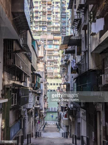 view of buildings in city - macao stock pictures, royalty-free photos & images
