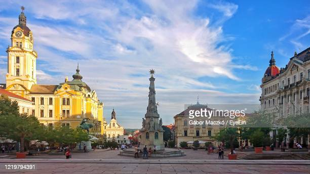 view of buildings in city - hungary stock pictures, royalty-free photos & images
