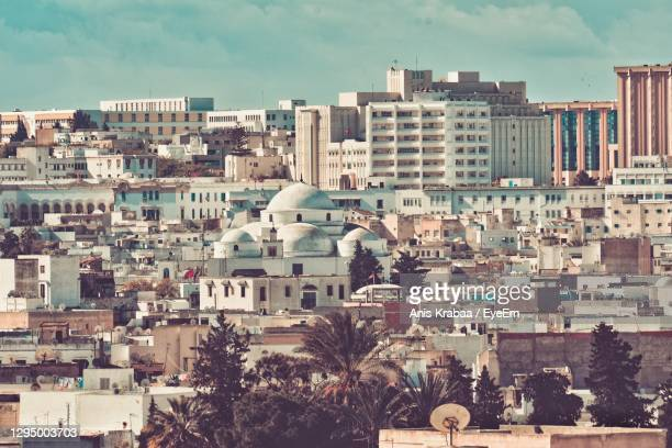 view of buildings in city - tunis stock pictures, royalty-free photos & images