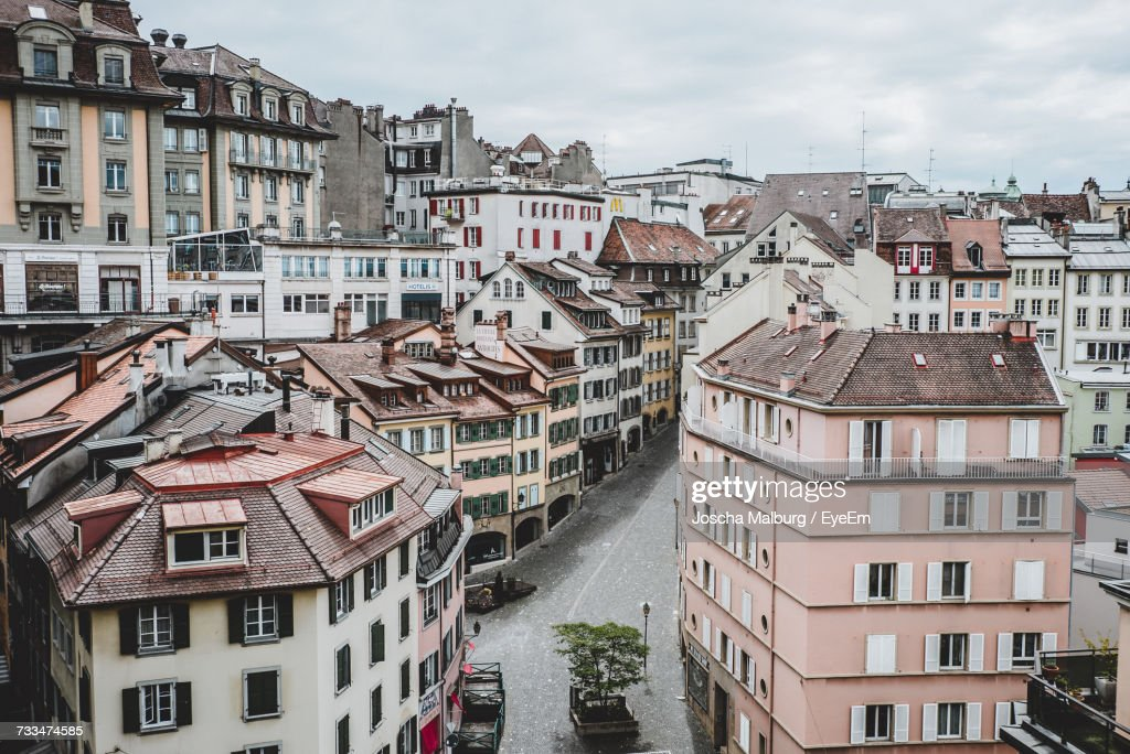 View Of Buildings In City : Stock Photo