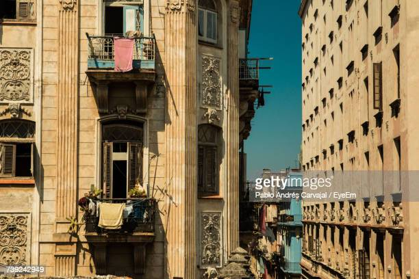 view of buildings in city - carvajal stock photos and pictures