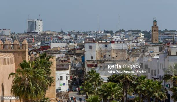 view of buildings in city - rabat morocco stock pictures, royalty-free photos & images
