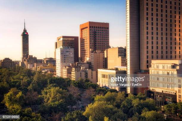 view of buildings in city - mexico city stock pictures, royalty-free photos & images